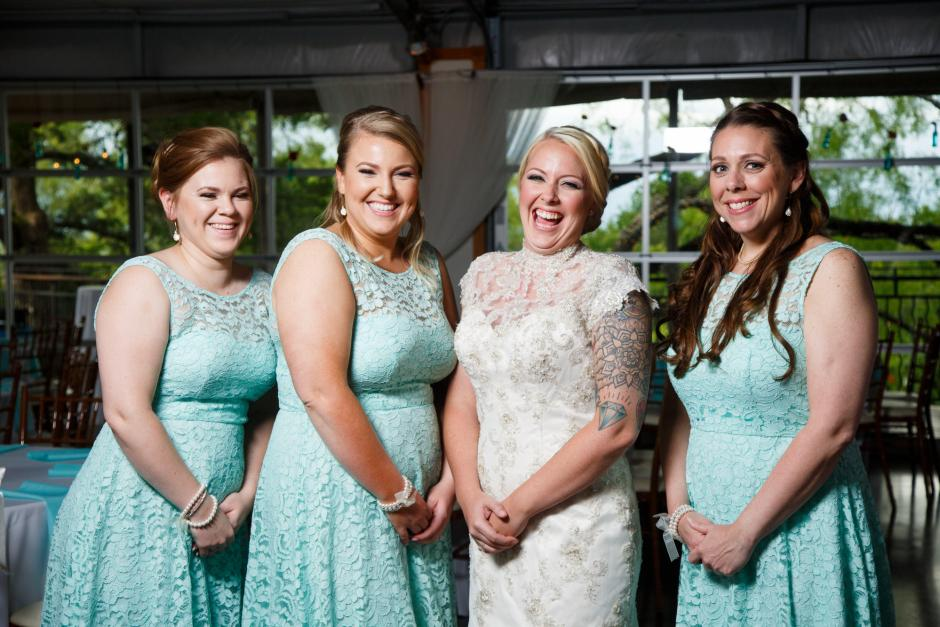 Bride and Bride's Made at TerrAdorna in Austin, Tx