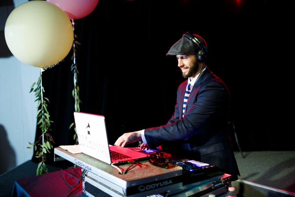 DJ Gatsby at Mike and Kathie Downtown Austin Palm Door on Sixth Wedding Reception