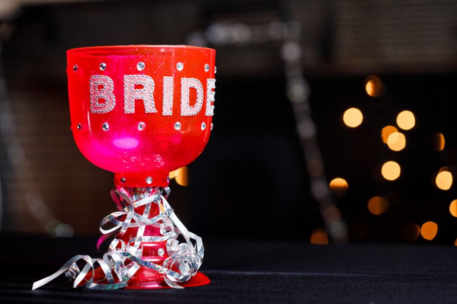 Bride's chalice during her Ruby Ranch Lodge wedding reception in Buda, Texas.