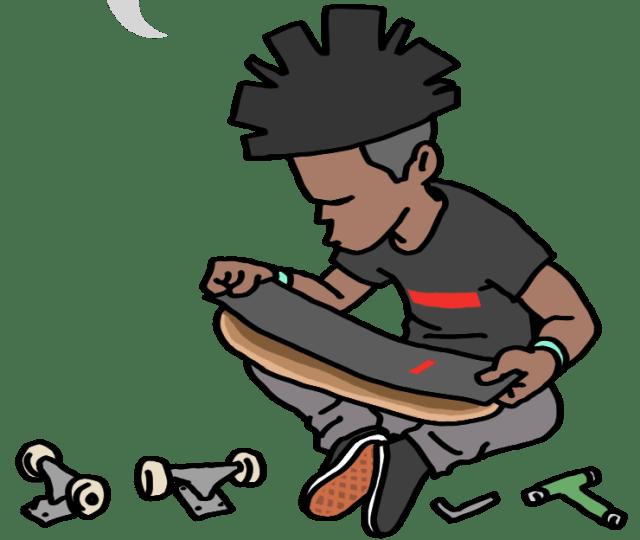 スケボー,スタンプ,スケボースタンプ,LINEスタンプ,安曇野黒岩わさび園,stamp,skate,スケートボード