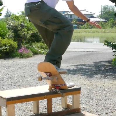スケートボード, スケボー, skateboard, skateboarding, トリック, 難しい, 初メイク, Kグラインド, フェイキーアウト, フェイキー, やっと, 長かった