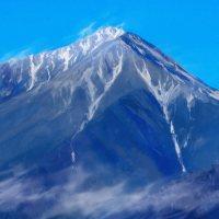 常念岳,安曇野,山,clipstudio,クリップスタジオ,クリスタ,お絵かき,iPad,iPad Pro