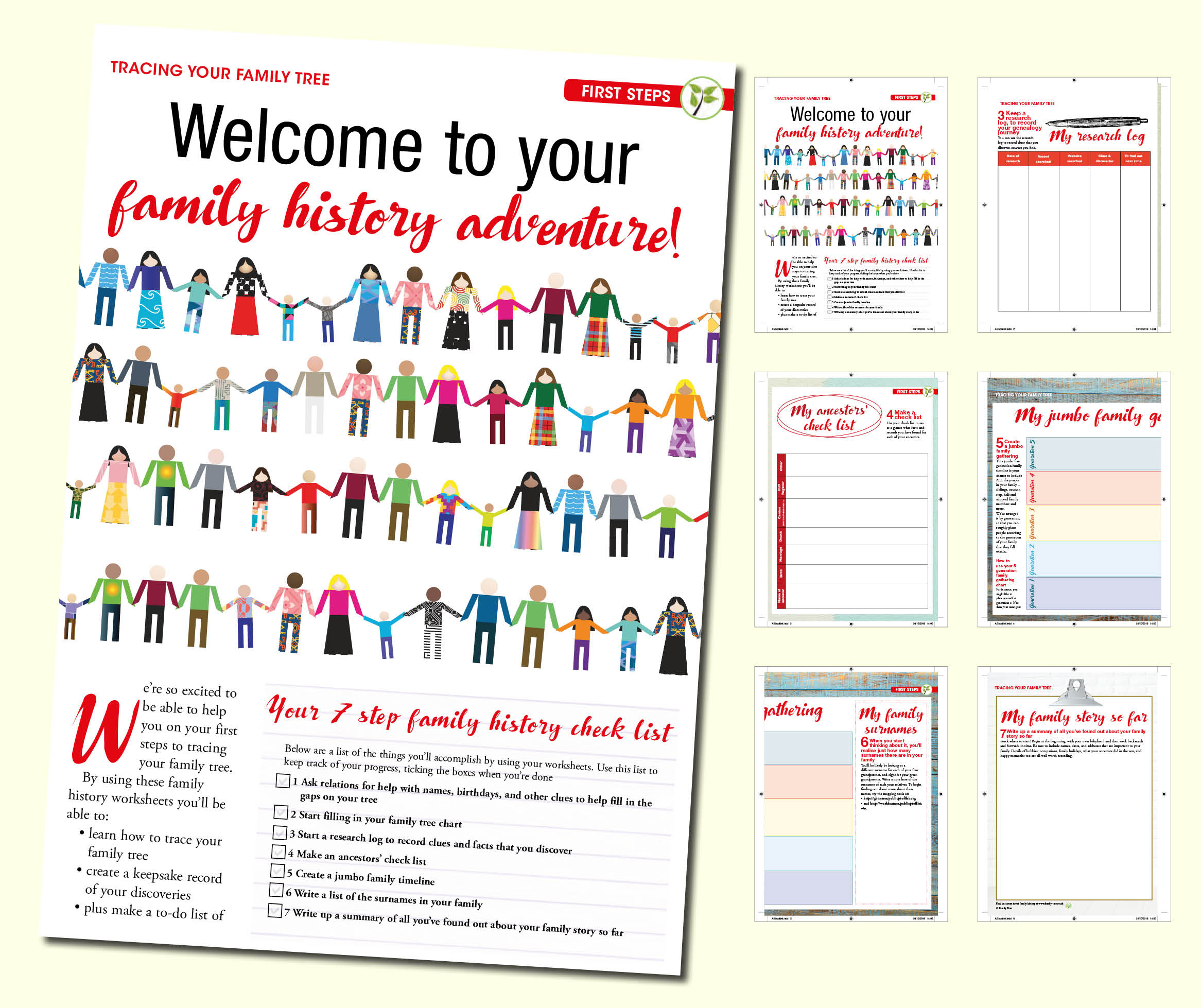 Tracing Your Family Tree Worksheet First Steps
