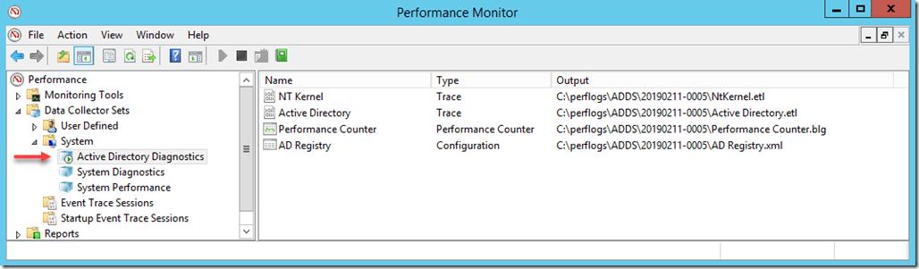 Running Data Collector Set
