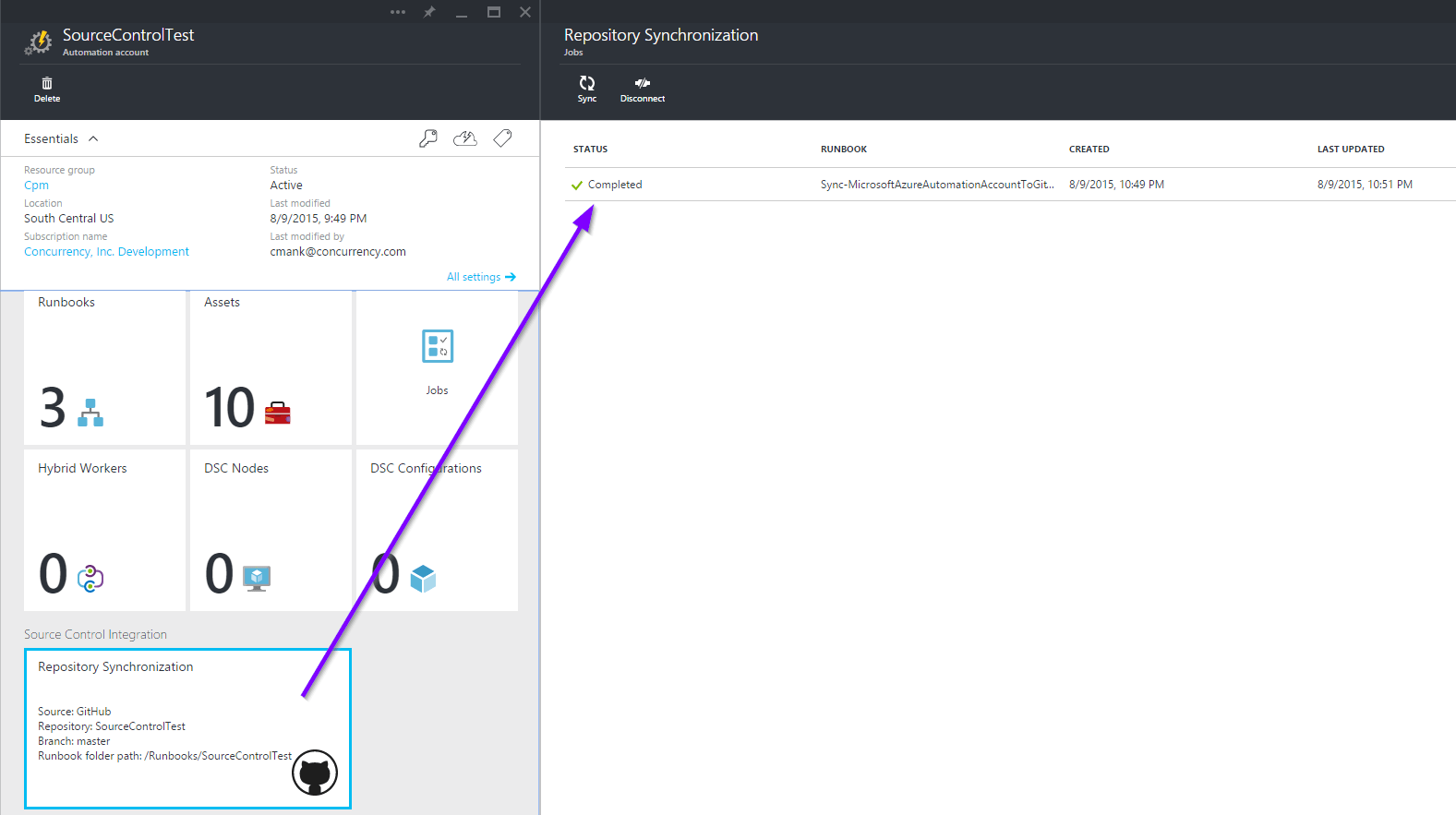 Source Control Integration In Azure Automation