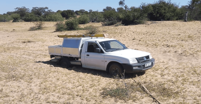 """On the """"road"""" to a connected cooler in rural South Africa, a field technician gets stuck in the sand on his way to the tavern"""