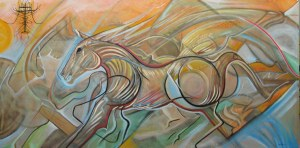 "Art Gallery - Artist: Michael Angelides. ""Heart of the Herd"""
