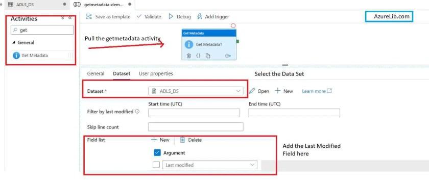GetMetaData Activity LastModified Timestamp of File or Folder
