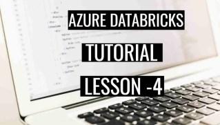 Azure Databricks Tutorial Lesson 4