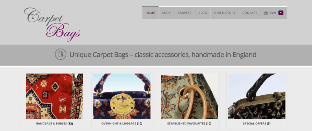 Carpet Bags website