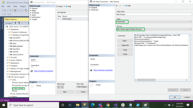 export sql server database to bacpac file using SQLPackage utility.