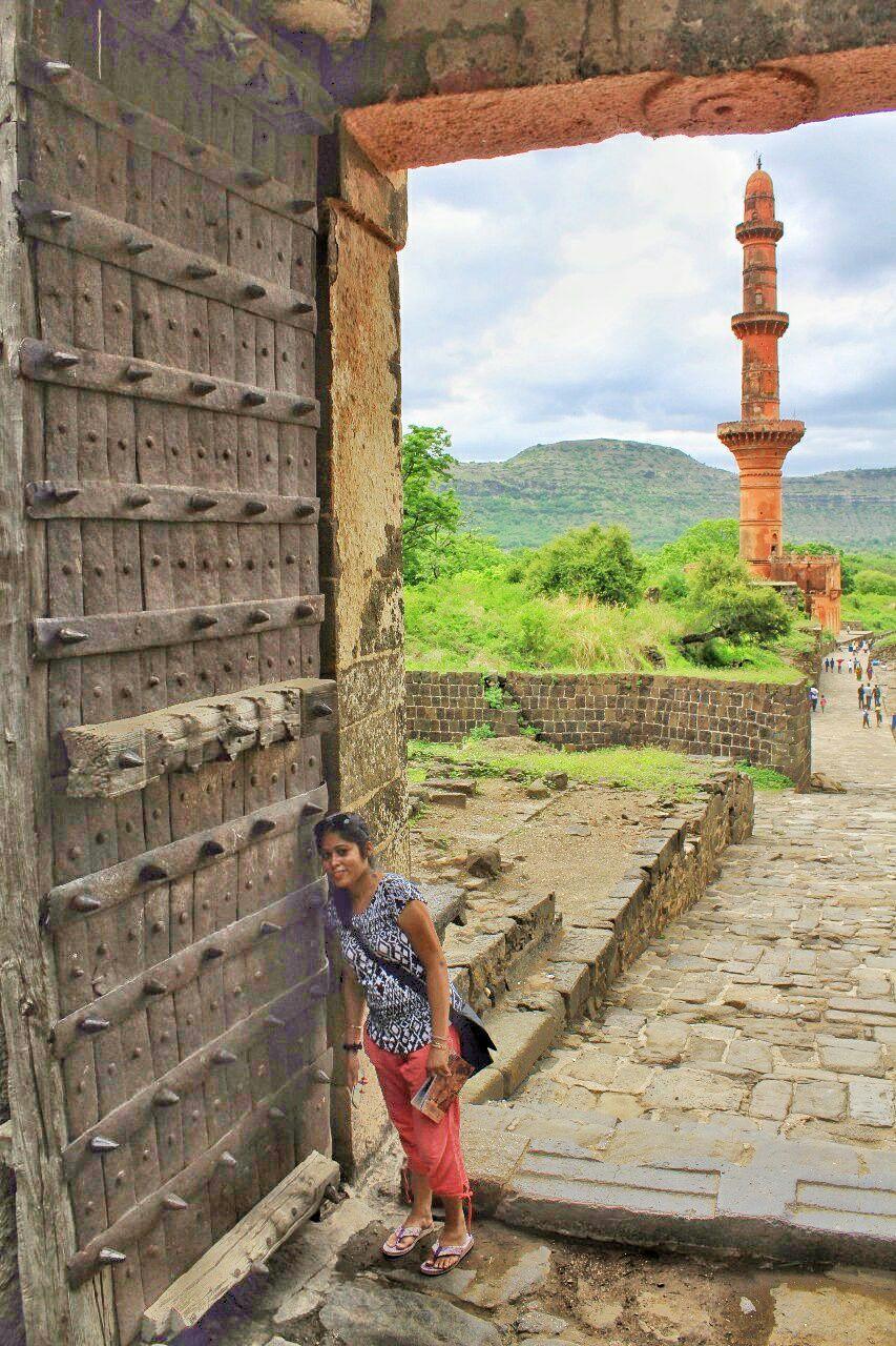 48 daulatabad fort - aurangabad - maharashtra - india - azure sky follows