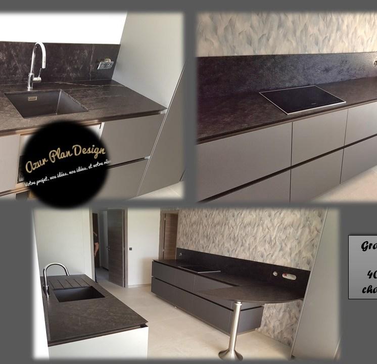 Plan de travail Granit Black Tear - Finition Vieillie
