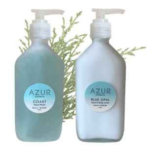 Natural Hand Wash & Lotion Duo in Refillable Glass Bottles