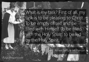 Aimee Semple McPherson on Holy Spirit.