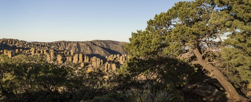 Rock formations in sunset light Photo by National Park Service