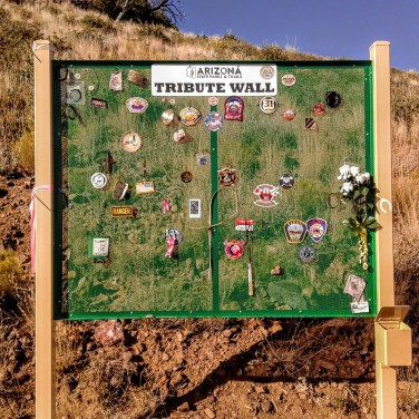 Granite Mountain Hotshots Tribute Wall