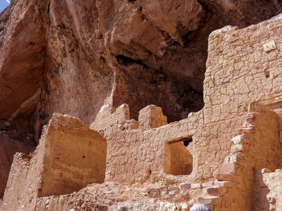 Close up view of the cliff dwellings at Tonto National Monument