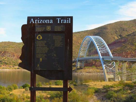 Arizona Trail sign near Roosevelt, AZ