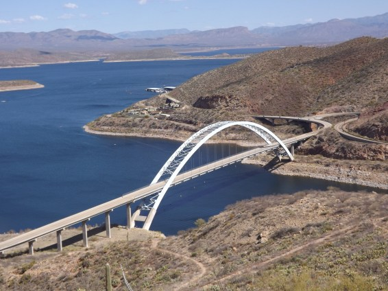 Roosevelt Lake viewed from the Arizona Trail.