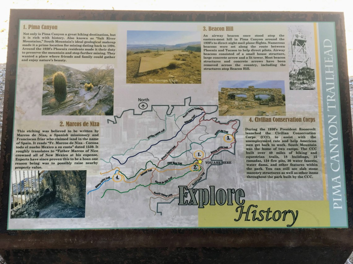 Hiking trail interpretive sign