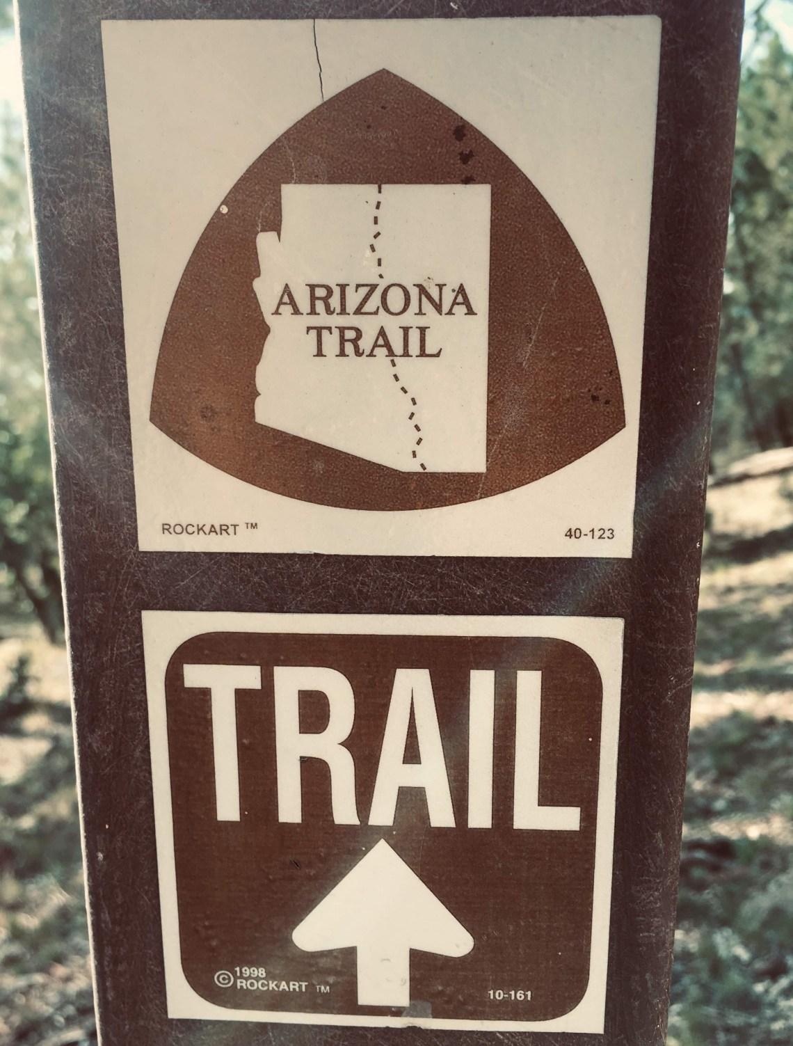 Arizona Trail directional sign