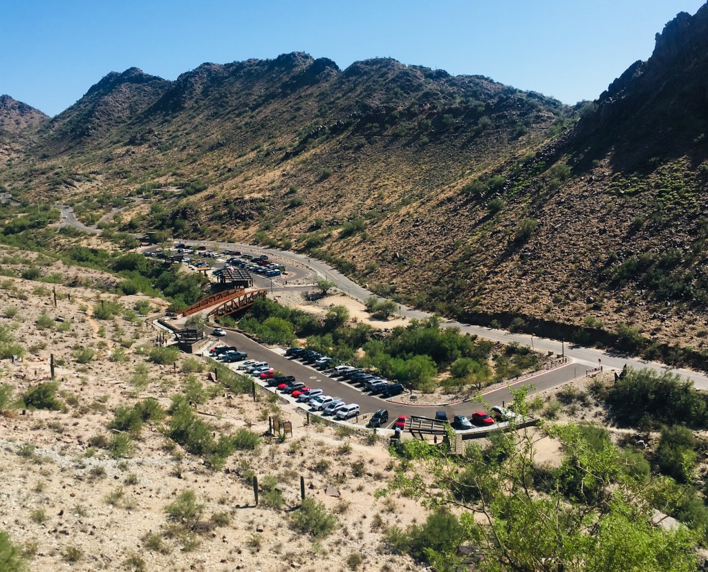 Expanded parking lots at Piestewa Peak base area