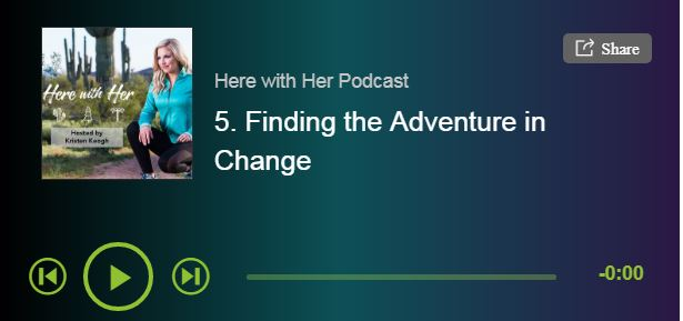 screen grab of Here with her podcast card