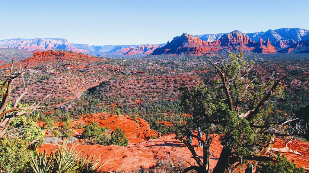 View of Sedona valley from Cathedral Rock Trail