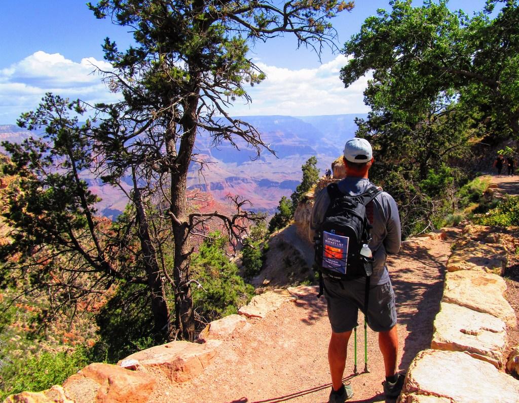 Arizona Bucket List author Paul Fiarkoski gazes into Grand Canyon