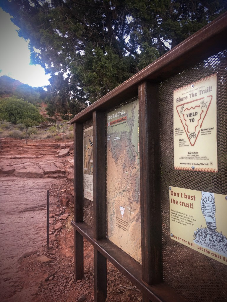 Airport Mesa Trailhead Sign Sedona