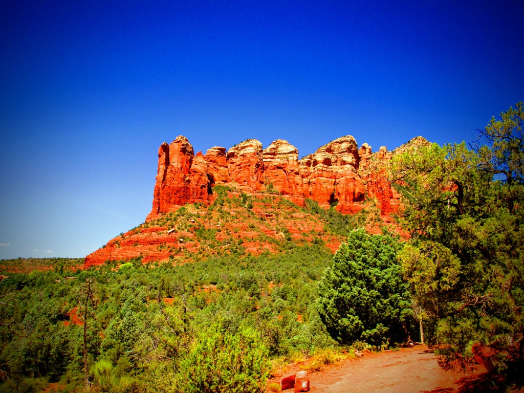 red rock formation in Sedona