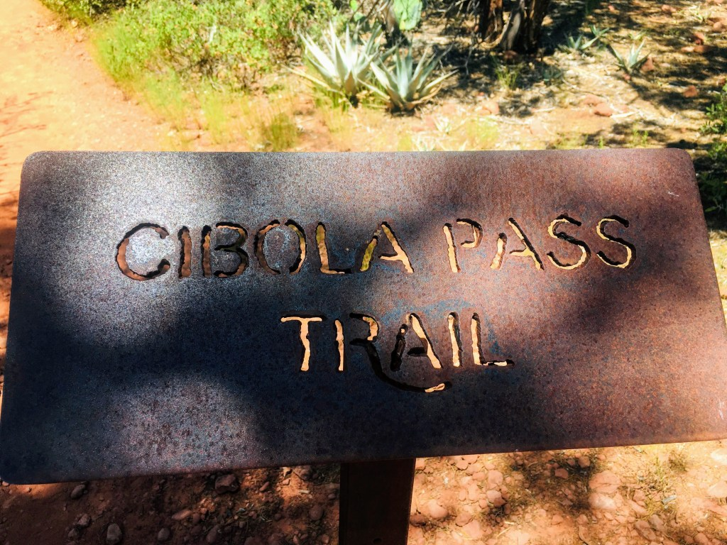 Cibola Pass Trail sign