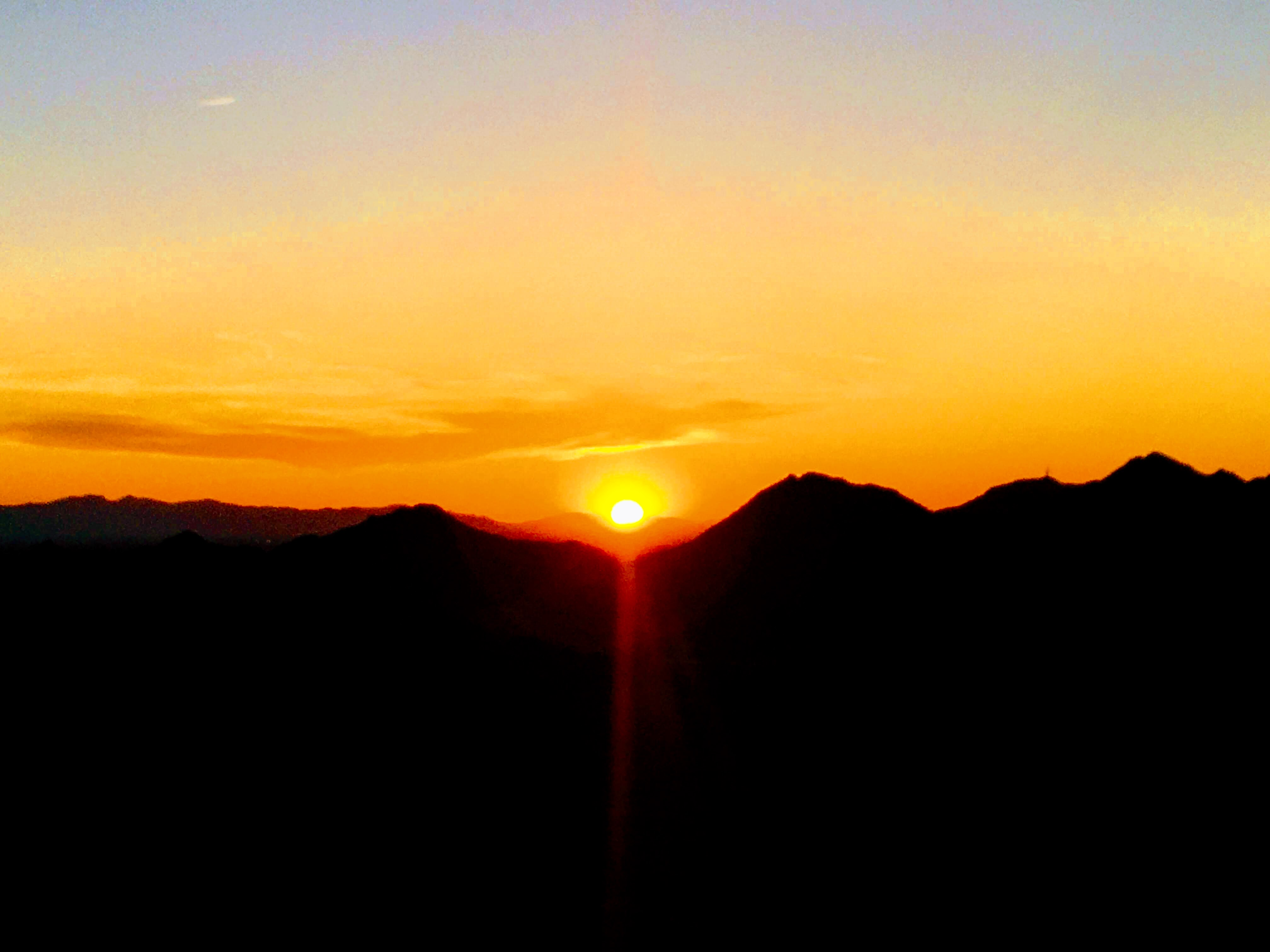 Arizona sunset viewed from Phoenix Mountains Preserve
