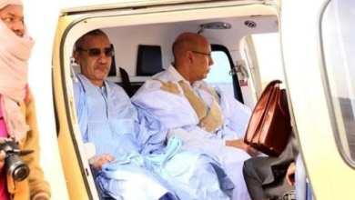 صورة الرئيس الموريتاني يحضر تنصيب الرئيس الغيني