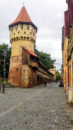 Idyllic European cities Sibiu - Sibiu most beautiful street | Fortress Street