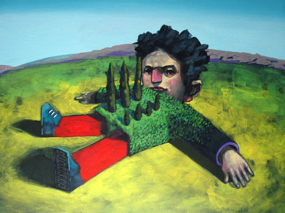 Huerta orgánica, cuadro del artista cordobés Manuel Coll.