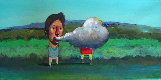 Sin título, cuadro del artista cordobés Manuel Coll.