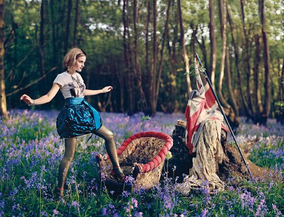 Producción con Emma Watson en Teen Vogue