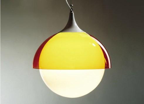 Lámpara tipo 60s con acrílico y globo