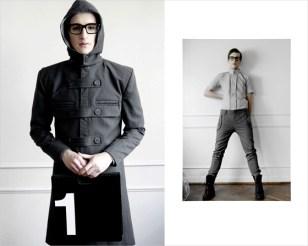 Sobretodo con capucha negro - Ladrón de Guevara