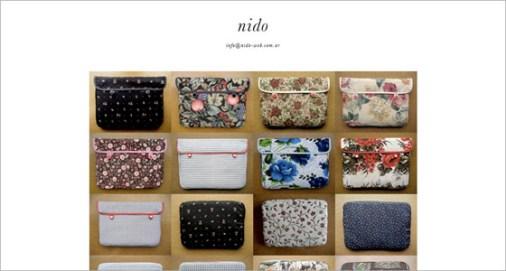 Imagen del diseño de la página de Nido