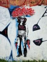 Graffiti sobre una pared en Matienzo al 2900/3000
