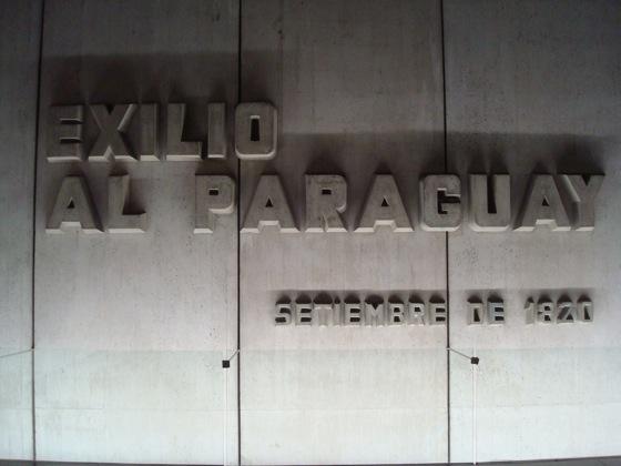 Dentro del monumento a Artigas