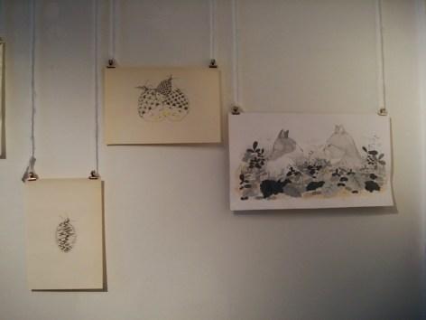 Dibujos de Martín Lowenstein en la muestra de Número A en SAPO