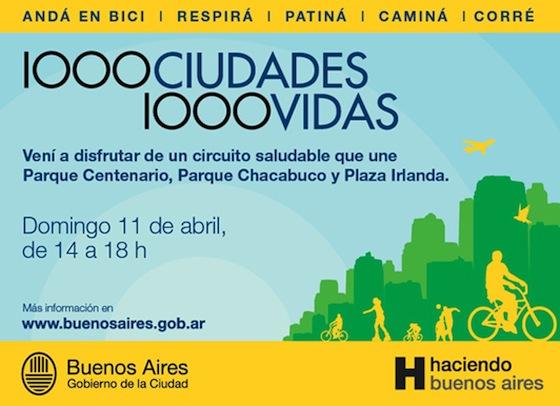 Circuito Parque Centenario, Chacabuco y Parque Irlanda. Imagen.