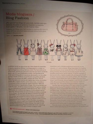 Imagen de nota bloggers de moda en IN, revista de LAN. Foto.