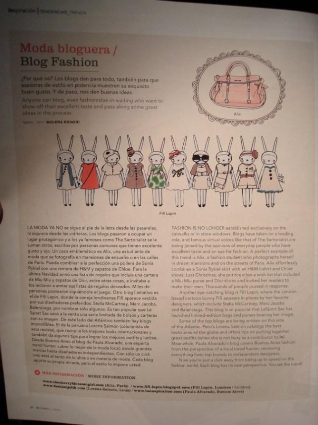 Imagen de nota bloggers de moda en IN, revista de LAN