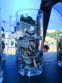 Vasos pintados en forma artesanal