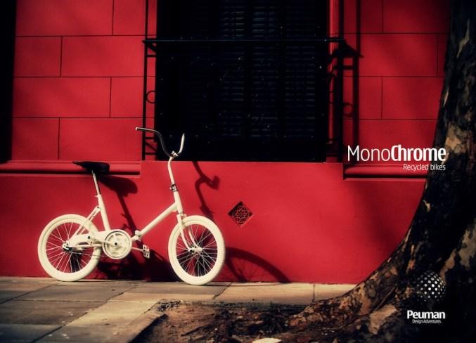 Bici tipo 'Aurorita' reciclada, por Monochrome